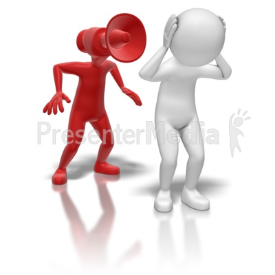 Stick Figure Bullhorn Person Presentation clipart