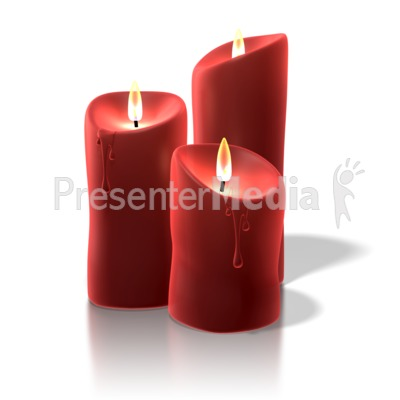 Christmas Candles Presentation clipart