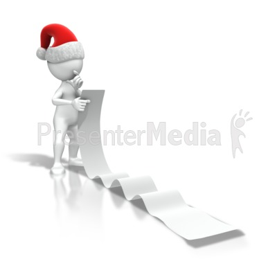 Christmas Figure Reading List Presentation clipart