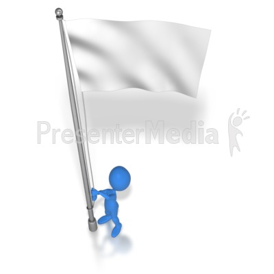Stick Figure Raising Flag Presentation clipart