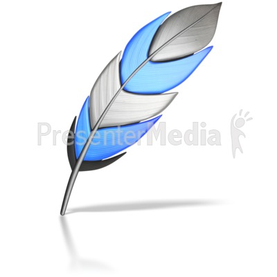 Single Colored Feather Presentation clipart