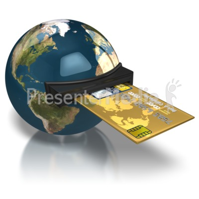 World Credit Card Presentation clipart