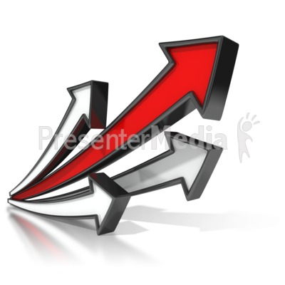 Lead Arrow Soaring Presentation clipart