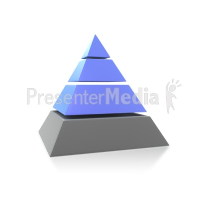 Three Highlighted Pyramid Presentation clipart