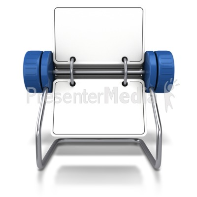 Front Facing Office Card Holder Presentation clipart