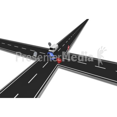 Stop Sign Car Accident Presentation clipart
