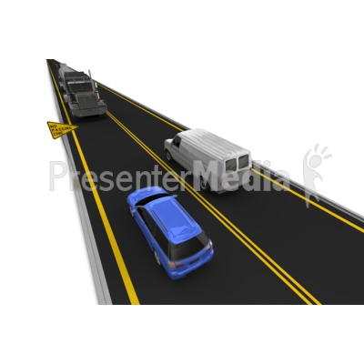 Highway No Passing Vehicle Left Lane Presentation clipart