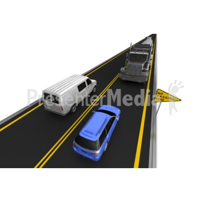 Highway No Passing Vehicle Right Lane Presentation clipart