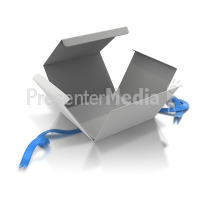 Empty Box Opened Presentation clipart