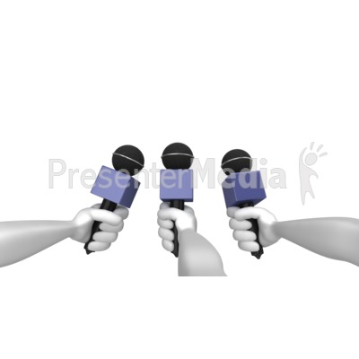 Comment To Press Presentation clipart