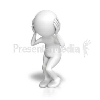 Stick Figure Disturbed Presentation clipart