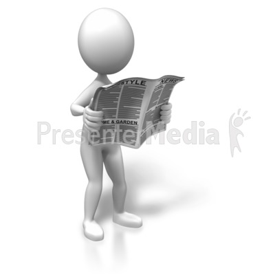 Standing With The News Presentation clipart