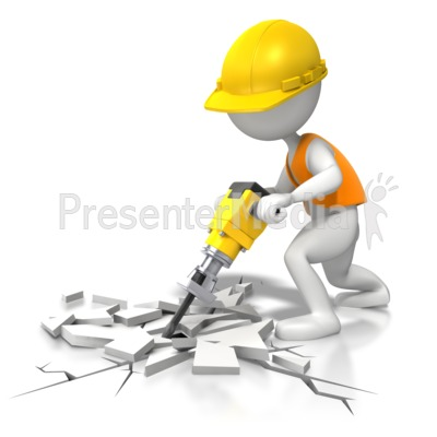 Jackhammer - Under Construction Presentation clipart