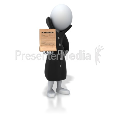 Detective Holding Evidence Presentation clipart