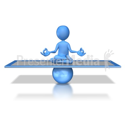 Stick Figure Balanced Presentation clipart