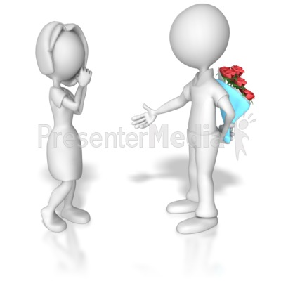Ask Out On Date Presentation clipart