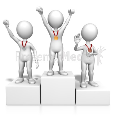 Winners On Podium Presentation clipart