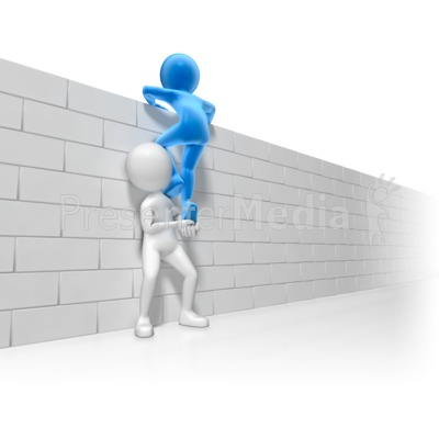 Helping Over The Wall Presentation clipart