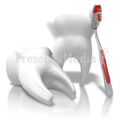 Toothbrush Leaning Teeth Presentation clipart