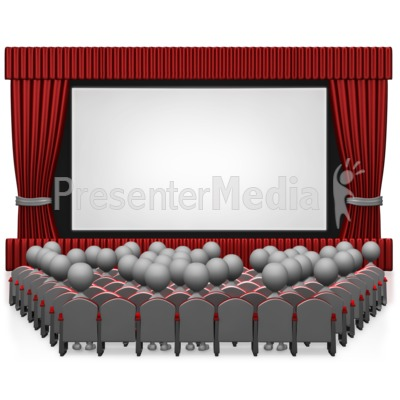 Movie Theater With People Presentation clipart