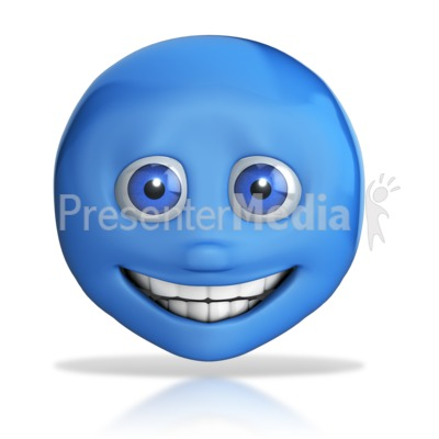Emotion Head Big Grin Presentation clipart