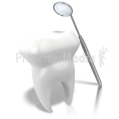 Checking Tooth With Mirror Presentation clipart