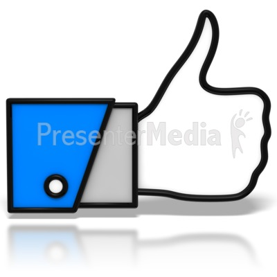 Thumbs-Up Icon Presentation clipart