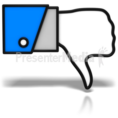 Thumbs-Down Icon Presentation clipart