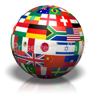 Country Flags Of The World Presentation clipart