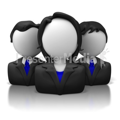 Business Icon Group Presentation clipart