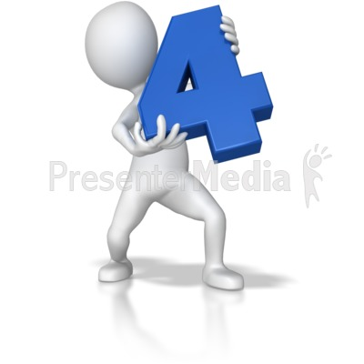 Stick Figure Holding Four Presentation clipart