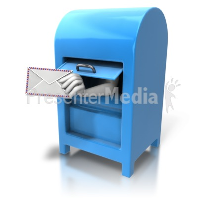 Mailbox Hand With Letter Presentation clipart