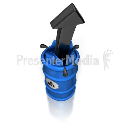 Oil Barrel Arrow Burst Presentation clipart