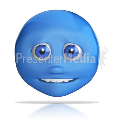 Emotion Head Small Smile Presentation clipart