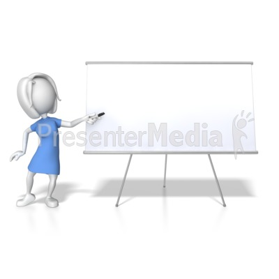 Woman Presenting Blank Board Presentation clipart