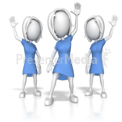 Women Raising Hands Presentation clipart