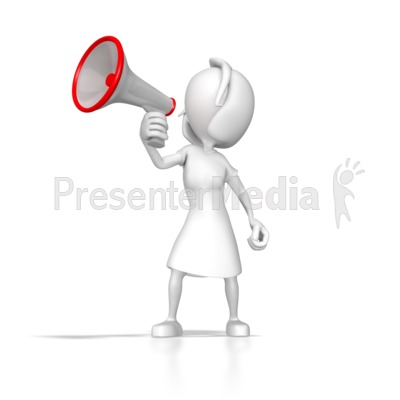 Woman With Megaphone Presentation clipart