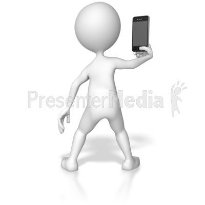 Taking Picture With Smartphone Presentation clipart