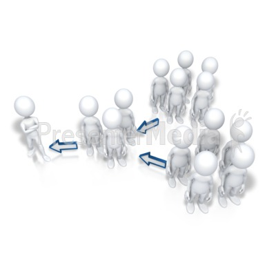 Up The Chain Of Command Presentation clipart