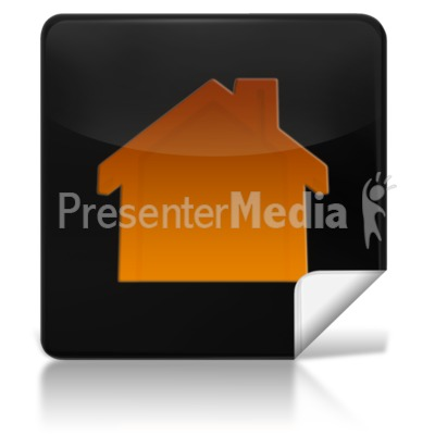 Home Square Icon Presentation clipart