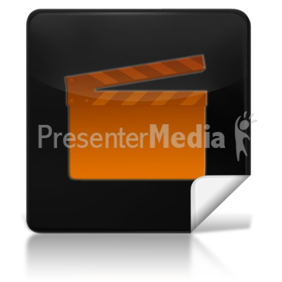 Movie Square Icon Presentation clipart