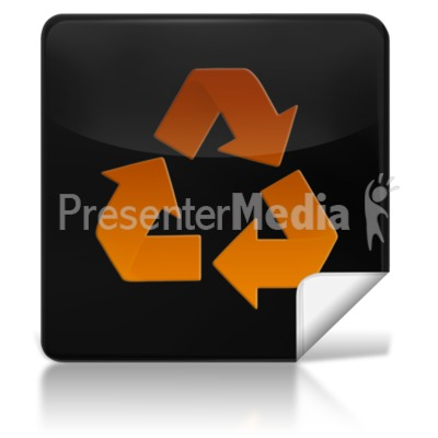 Recycle Square Icon Presentation clipart