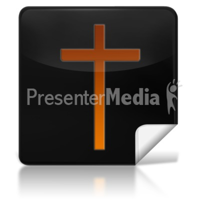 Religious Cross Square Icon Presentation clipart
