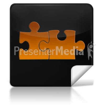 Puzzle Connect Square Icon Presentation clipart