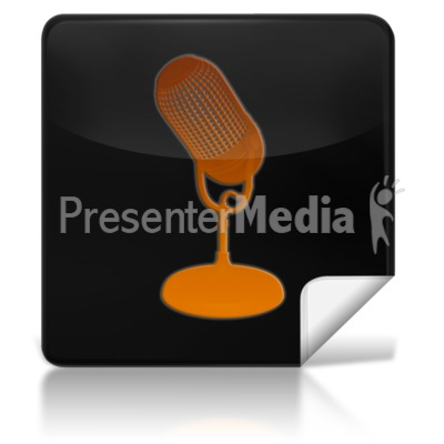 Microphone Square Icon Presentation clipart