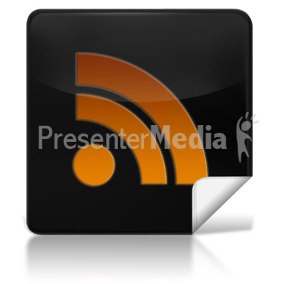 RSS Feed Square Icon Presentation clipart