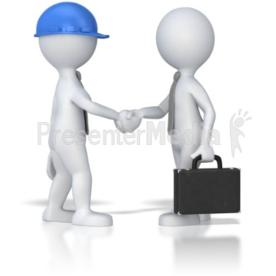 Business Meeting Shaking Hands Presentation clipart