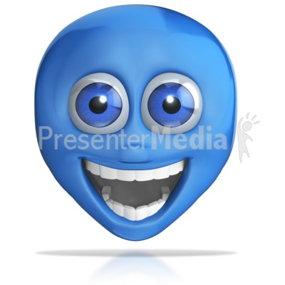 Crazy Excited Emotion Head Presentation clipart