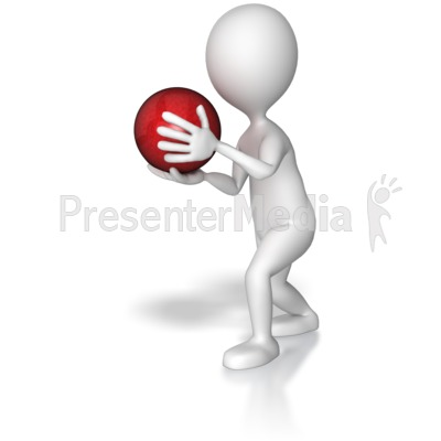 Bowler About To Throw Presentation clipart