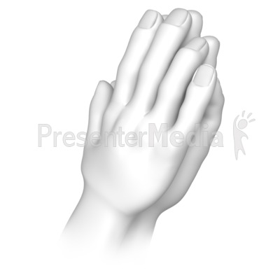 Praying Hands Presentation clipart